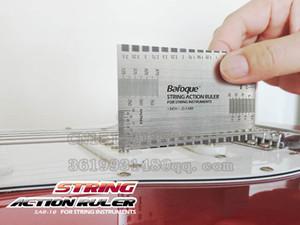 기타 String Action Ruler Gauge Tool 스테인레스 스틸 양면 멀티 기능 기타 Luthier 정확한 문자열 측정
