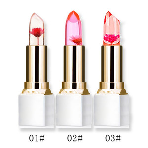 Wholesale Transparent Natural Red Lip Stick Temperature Color Change Long-lasting Moisturizer Flower Jelly Lipsticks Shiny Makeup