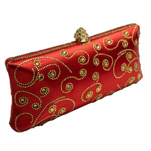 Italian Red Blue Gold Wallet Crystal Evening Womens Clutch Party Purse Wedding Bridal Bags Royal For Csmul