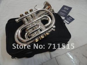 Neu kommen Bb-Taschen-Trompete-Qualitäts-Messingrohr-Silber überzogene Oberflächen-Trompete-Marken-Musikinstrument mit Fall an