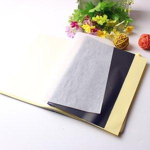 10 قطع 4 طبقات ورقة نقل الوشم الوشم إمدادات الكربون الحرارية ورقة نقل الوشم ورقة الاستنسل نسخة تتبع ورقة التبعي