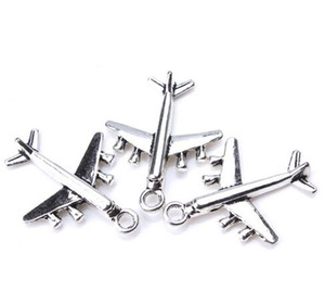 100pcs lot Ancient Silver Alloy Airplane Aircraft Charms Pendants For diy Jewelry Making findings 27x21mm