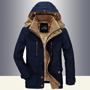남성 겨울 재킷 남성 군사 스타일 높은 품질 두꺼워 양털 파카 코트 패딩 재킷 플러스 사이즈 6Xl 무료 배송