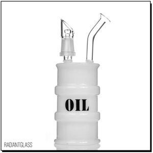 """Cilindro de óleo Bong tubulação de água 6.6 """"bong de vidro Preço de Atacado mini tambor equipamento de óleo de vidro bong bong dab rigs"""