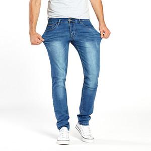 Джинсы Drizzte Mens Stretch Summer Легкие тонкие синие повседневные джинсовые джинсы Модные брюки Брюки джинсы оптом