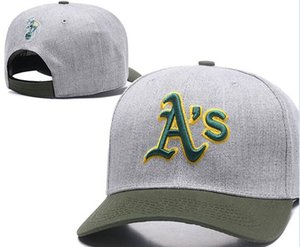 Neue Marke, die Oakland Hat AS Logo Kappe Männer Frauen Baseball Caps Snapback Solid Farben Baumwolle Knochen European American Fashion Hut 003