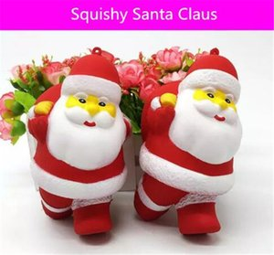 Squishy Christmas Santa Claus 12.5cm enorme Slow Rising Soft Squeeze Cute Cell Phone Strap gift Stress children toys Descompresión Toy