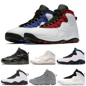 10 Chaussures de basket Ciment Westbrook X Je suis de retour 10s Hommes Bobcats ChicagoPowder bleu acier gris clair sport blanc noir Chaussures de sport