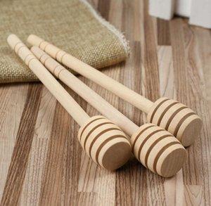 500 pcs / lot New Arriver MINI 15 cm de long en bois Honey Dippers Faveurs de mariage Honey Dipper cuillère Cadeau Livraison gratuite SN025