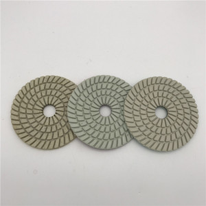 3 Шаг Полировальником 4 дюйма (100 мм) из мрамора Гранит полировки Алмазные инструменты нейлоновая ткань Абразивный диск колеса Набор из 3