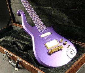 Promozione! Diamond Prince Cloud Metallic Purple Electric Guitar Guitar Body Alder, Copertura della barrante dell'oro, intarsio di simbolo dell'oro, avvolgere il cordonetto