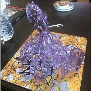 Pipes Chifre Abyss seis garra polvo de vidro 14,5 milímetros Feminino Joint Caliane Cor Púrpura do diabo com Tubos Picholes Perc Mão
