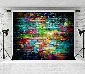 Sogno 7x5ft Colorful Fotografia Graffiti Muro Sfondo Hip Hop Decorazione per feste priorità bassa della foto per i bambini riprese in studio su misura Prop