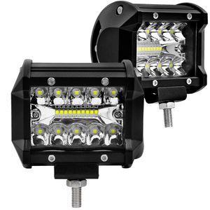 자동차 LED 조명 4 인치 러닝 램프 60W 6000K 슈퍼 밝은 반점 빔 SUV ATV UTV 트럭 4WD 작업 표시 줄