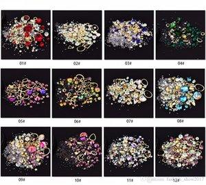Nouveau Vente Chaude Nail Art Décoration Coloré Charme Perle Gemme Strass Creux Shell Flocon Flatback Rivet Mixte Brillant Brillant 3D DIY Accessoire