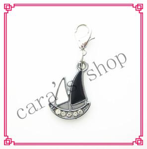 20 / PCS nouvelle arrivée charmes de voilier Dangle Hanging Charms DIY Bracelet breloques en cristal Collier Bijoux Accessoire fermoir de homard Charme