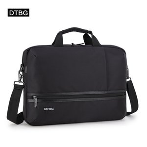 DTBG Laptop Business Bag Solid Black Office Messenger Bags Briefcase Men Women Suitcase Computer Sac For 15.6 Inch Notebook Sac