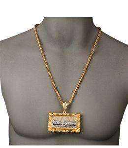 HipHop Iftec Popolare Bibbia religiosa Gesù ciondolo fascino collane Ice Out gioielli hip-hop Uomini Colore oro L'ultima cena Gesù