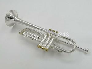 Bach TR-700GS alta calidad Bb Trompeta de latón plateado plata Instrumentos musicales profesionales con estuche Marca Trompeta