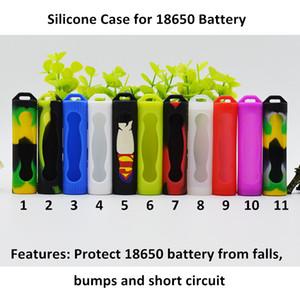 18650 Аккумуляторная крышка Силиконовый защитный чехол Красочный мягкий резиновый протектор кожи для E Cig 18650 Аккумуляторная батарея Sony