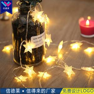 3 metros levou cinco canto estrela pequena lanterna, dia de Natal de ano novo, luzes piscando, luzes da estrela de LED.