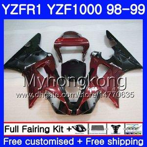 Carrozzeria per YAMAHA YZF R 1 YZF 1000 YZF1000 YZFR1 98 99 Telaio 235HM.8 YZF-1000 YZF-R1 98 99 Carrozzeria YZF R1 1998 1999 Vino rosso caldo vendita Carena
