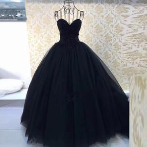 2020 Fiesta de quinceañera baile Negro rojo del dulce 16 Vestidos Vestidos Vestidos de Debutante vestido QC1106