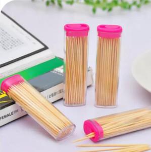 Palillo de bambú con bolsillo Moda Forma más ligera Palillo de dientes titular en forma romántica creativa palillo de dientes portátil portátil envío gratis