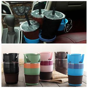 Multi Function Car Organizer Auto Gafas de sol Bebida Cup Holder Keys Phone Storage Cup Accesorios interiores prácticos DDA361