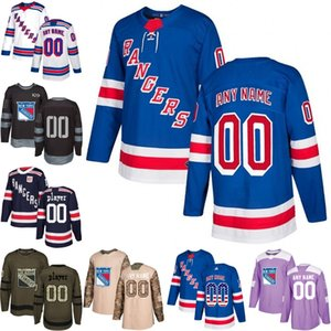 2018 Custom Men youth women New York rangers Henrik Lundqvist Mats Zuccarello Jimmy Vesey Hockey Jersey talla S-3XL