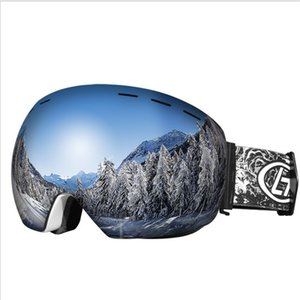 Ski goggles, professional anti-fog double lens UV400 large spherical men's and women's ski goggles snowboard goggles