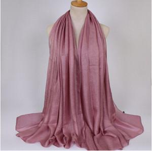 Châle de lin doux châle en soie châle hijab printemps grande taille printemps bandeau musulman wrap écharpe solaire foulards de plage 180 * 100 cm