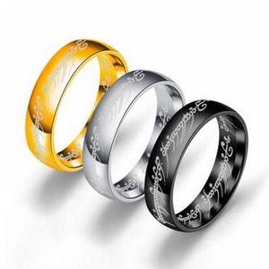 6 мм Размер 6 -13 Золота Нержавеющая Сталь Кольцевая полоса Свадьба Участок Коктейль Муж Отец Лучшие подарки