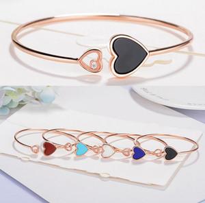 Happy ода 2 Энди сердце типа розового золота с открытием браслет стерлингового серебра S925 браслет женские ювелирные изделия производителей оптом