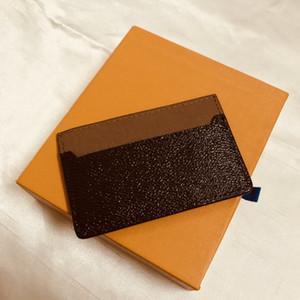 M61733 فرنسا مصمم فاخر المرأة الرجال حامل بطاقة أحادية غرام قماش براون متقلب الأسود منقوشة قماش جلد شحن مجاني نوعية جيدة