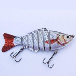Baits 5pcs set 10cm 12.5g Popular Fishing Lure Multi Jointed Swim Bait Lifelike Hard Fish Bait Artificial Crankbait Tackle MML01