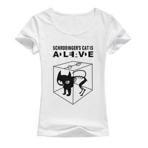 Anime The Cartoon Bang Printed A132 Rhgqi Shirts Female Women Shirt Cooper T-shirt T Sheldon Schrodinger Theory 's 2017 Big Qipwv Cat Biefo