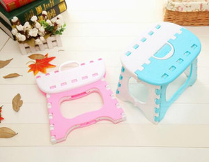Hand folding stool totem double color thickening plastic stool