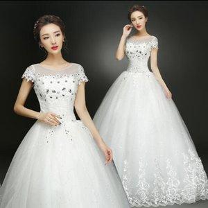 New Arrive 2018 Summer Real Photo Short Sleeves White Wedding Dresses Cheap Bride Gowns Custom Made Vestidos De Novia