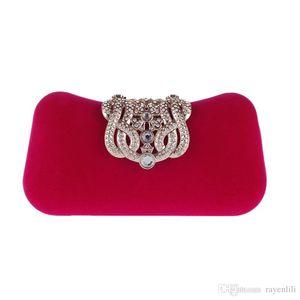 Brand Women Small Shoulder Bags Glossy Rhinestone Evening Purse Mini Party Clutch Handbag Red SMYXST-E0023