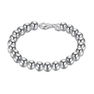 8M Bracelet - creux en argent sterling plaqué bracelet; L'arrivée de nouveaux hommes de la mode et les femmes 925 bracelet en argent SPB126