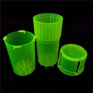 MOQ é 1 peça Med Container 3 Peças Mini plástico Grinders seguro sistema de bloqueio de torção plástico barato Herb Grinders Venda