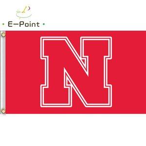 Bandeira da NCAA Nebraska Cornhuskers Recém bandeira de poliéster 3ft * 5ft (150 cm * 90 cm) bandeira Bandeira decoração voando jardim de casa ao ar livre presentes