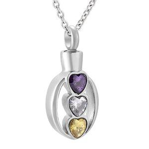 Per sempre amore dell'acciaio inossidabile Urn Memorial Keepsake Pendant Cremation Jewelry for Ashes Holder