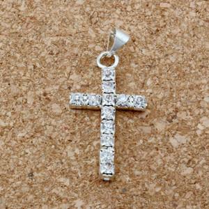 MIC 50pcs   1 lots 30x15mm clear Rhinestone Cross Charm pendants DIY Jewelry