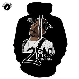 Thug Life Tupac 2PAC Hoodies Hip Hop Sweatshirt Rap Mens Streetwear  Men Clothes Hooded Sweatshirt Cool Rapper Dropshipping