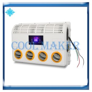 Universal Wall-mounted Air Conditioner Evaporator Assembly Unit with remote control for Van Excavator Tractor Truck Bus