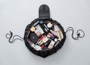 Vely Vely Creative Lazy Cosmetic Bag سعة كبيرة محمولة الرباط تخزين قطعة أثرية ماجيك السفر الحقيبة حقيبة مستحضرات التجميل بسيطة