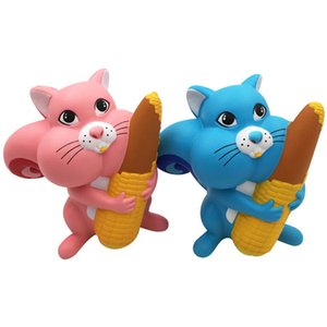 10Pcs kawaii Squishy Jumbo Christmas Corn Squirrel Squishy Slow Rising Stress Relief Toy Squeeze Charms Phone Strap Kid Juguetes