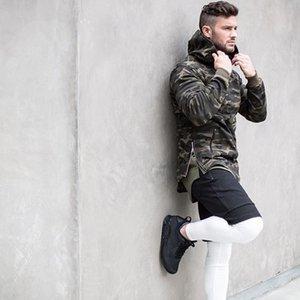 Spring New Mens Camouflage Hoodies Patchwork Fitness Bodybuilding Jacket Felpe Abbigliamento sportivo Abbigliamento New Fashion Taglia S-XL